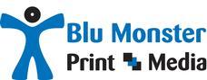 Blu Monster Print